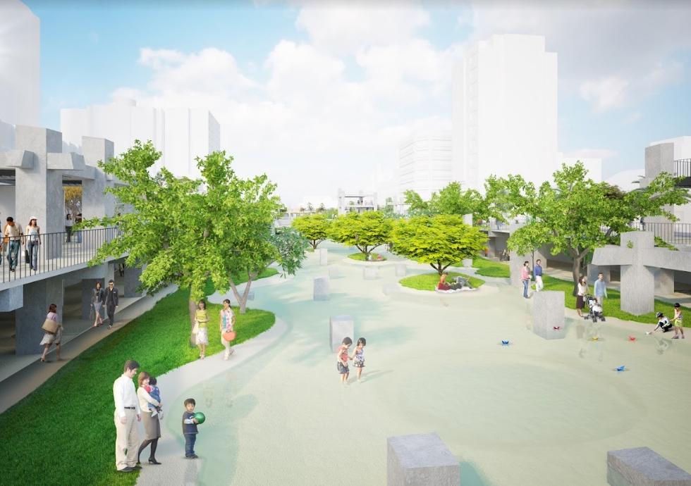 圖1 中正路尾廣四景觀改造廣場將改造為下凹式的親水空間