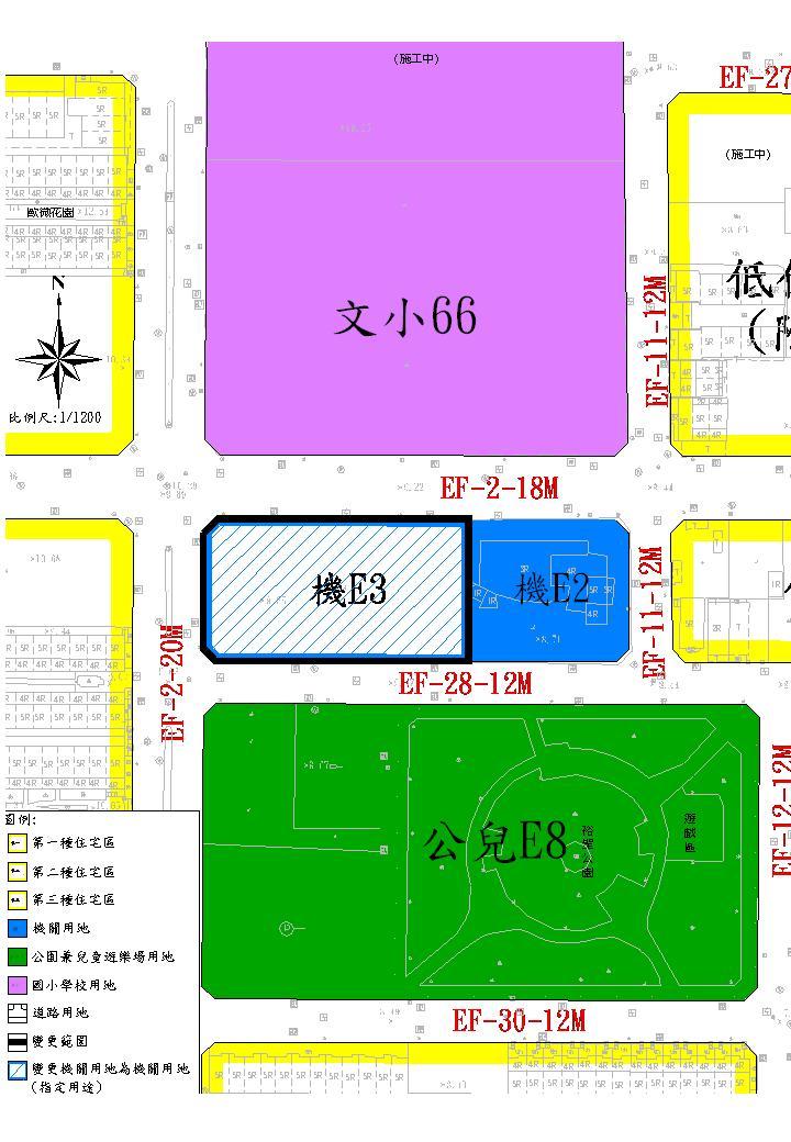 臺南市立圖書館東區第二分館機關用地變更計畫案,自98年6月10日起依法公開展覽30天  1
