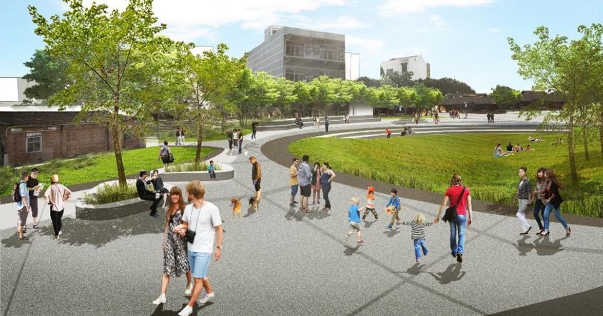 新營鹽水雙星拱月整體規劃包括綠廊、水岸、糖廠、車站及新闢公園,以水綠圍城及文化小鎮等多樣魅力,型塑地方城鎮新品牌。