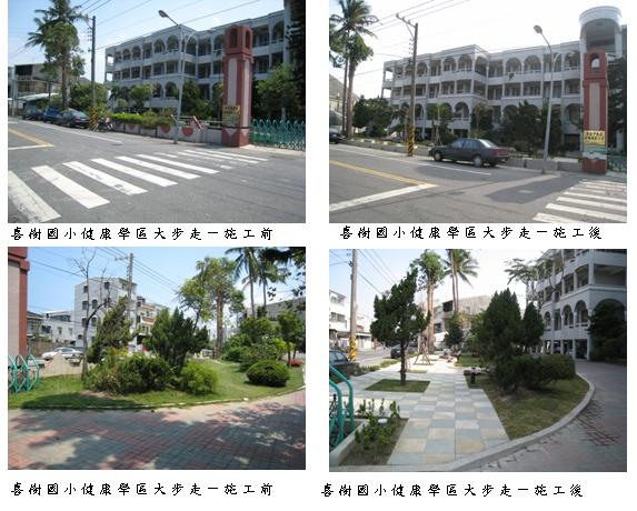 『96年度營造都市社區風貌計畫』完工系列報導-喜樹國小『健康學區大步走工程』改造成功  0