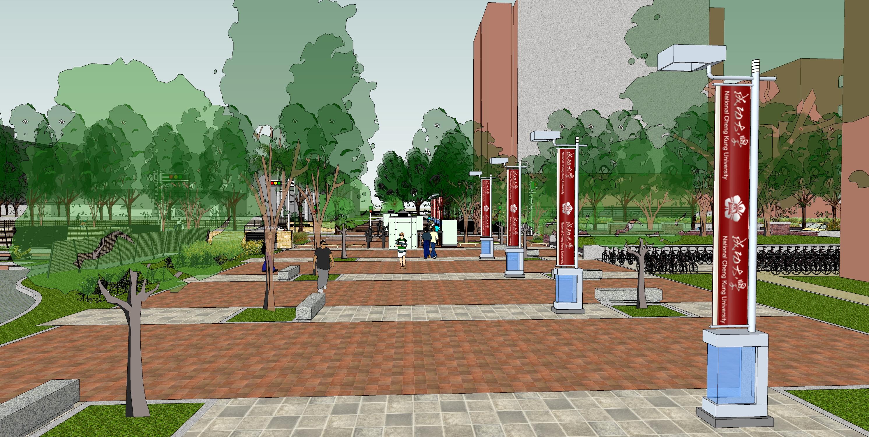 增添府城綠意 營造府城風貌-成大勝利綠廊景觀改善工程通過都市設計審議  1