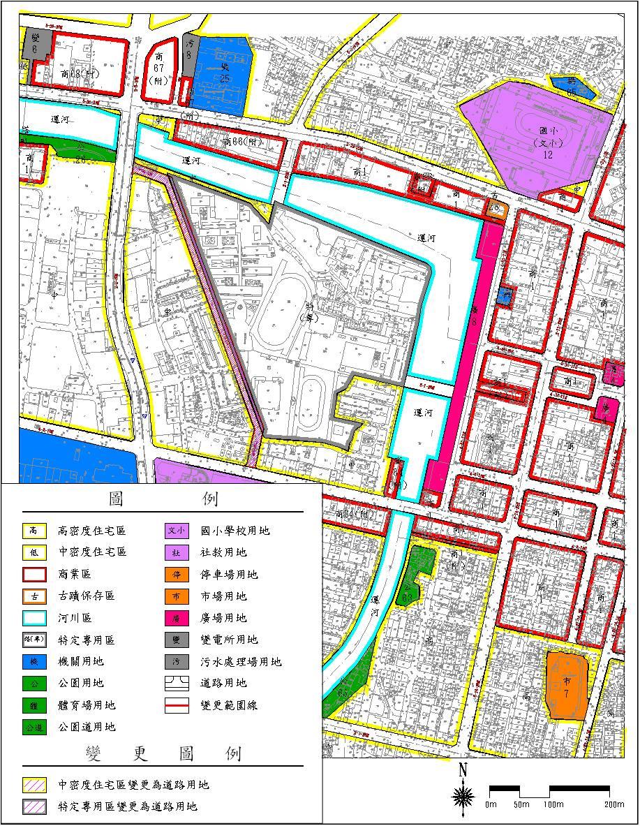 「變更台南市主要計畫(運河星鑽特定專用區西側)部分中密度住宅區及特定專用區為道路用地案」公開展覽  0