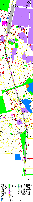 本市北區、東區配合「臺南市區鐵路地下化計畫」辦理都市計畫案,自101年8月8日起依法公開展覽30天  2