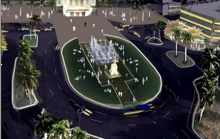 台南火車站圓環景觀噴泉設計草案出爐  0